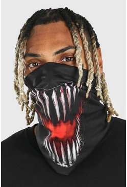 Black Halloween Alien Mouth Snood