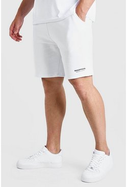 White Plus Size MAN Short with Elastic Waistband