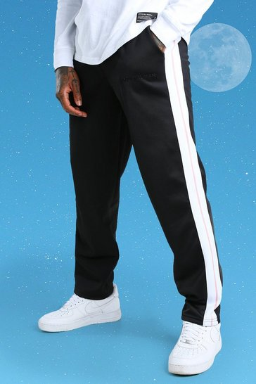 White Official MAN Side Tape Tricot Jogger