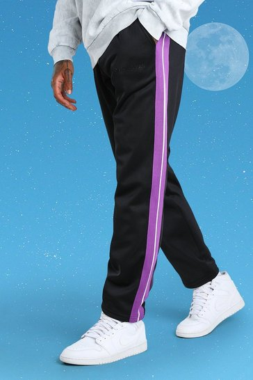 Purple Official MAN Side Tape Tricot Jogger