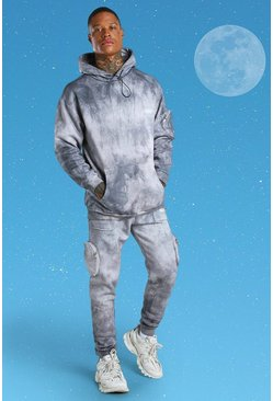 Grey International Tie Dye Utility Pocket Tracksuit