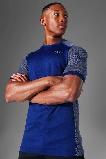 Navy Man Active Seamless T-shirt