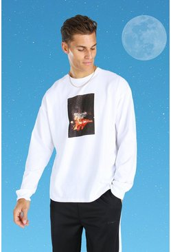 White Tall Official MAN Loose Fit Long Sleeve T-Shirt