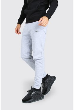 Grey marl grey Tall MAN Signature Skinny Joggers