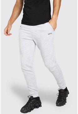 Tall Original MAN Skinny Joggers, Grey marl gris
