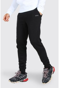 Tall Original MAN Skinny Joggers, Black noir