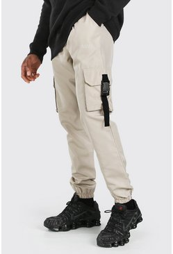 Original MAN Shell Buckle Cargo Trouser, Stone beige