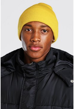 Mustard yellow Rib Knit Beanie