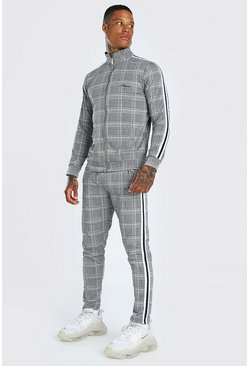 Grey MAN Signature Jacquard Tracksuit with Tape