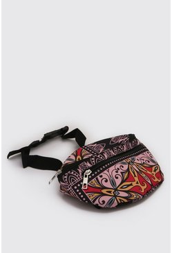 Pink Tile Print Bum Bag