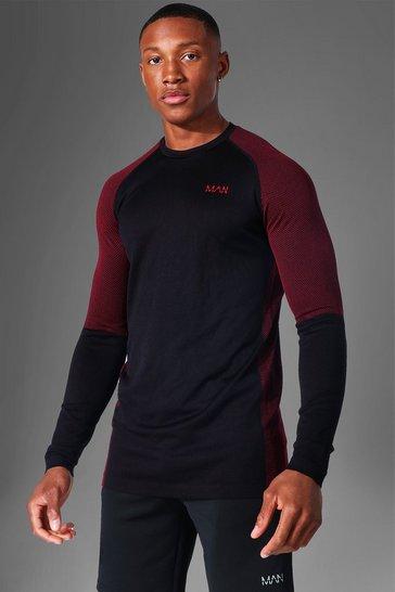 Black Man Active Seamless Long Sleeve Top
