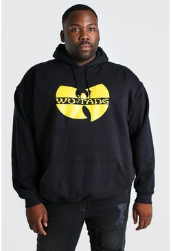 Black Big and Tall WU-TANG License Hoodie