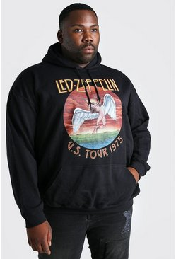 Black Big and Tall Led Zeppelin License Hoodie