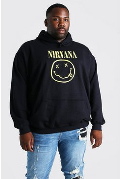 Black Big And Tall Nirvana License Hoodie
