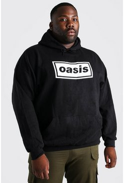 Black Big and Tall Oasis License Hoodie