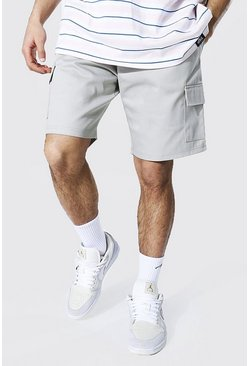 Light grey grey Twill Cargo Short