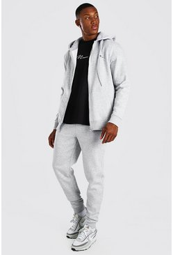 Sweat à capuche zippé et pantalon de survêtement - MAN, Grey gris