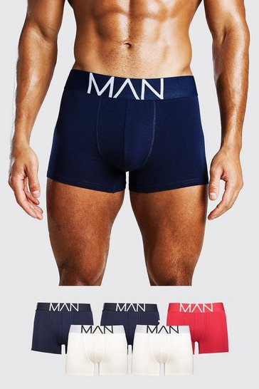 Multi 5 Pack Man Boxers In Mixed Colours