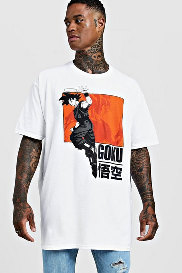White Goku Dragonball Z Oversized License T-Shirt