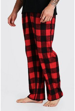 Red Woven Check Pyjama Bottoms