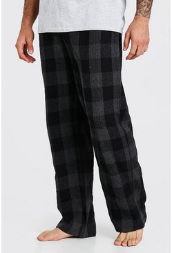 Grey Woven Check Pyjama Bottoms