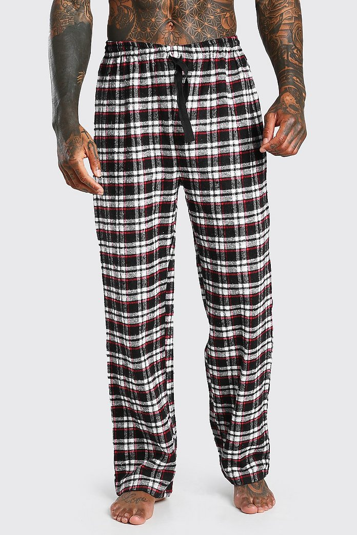 Pantalones De Pijama De Cuadros Tejidos Boohoo