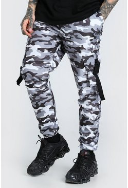 Light grey Original MAN Camo Shell Buckle Cargo Trouser