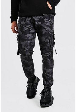 Dark grey Original MAN Camo Shell Buckle Cargo Trouser