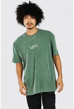 Khaki Oversized Original MAN Overdyed T-Shirt