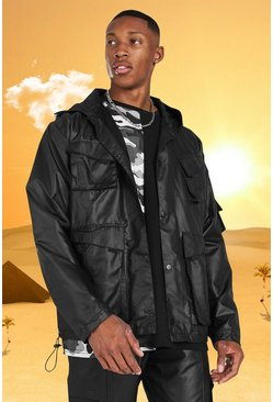 Black Burna Boy 4 Pocket Field Jacket