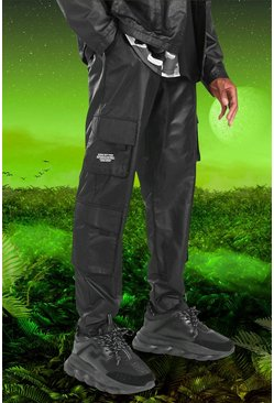 Black Burna Boy Cargo Trouser