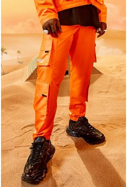 Oranje orange Burna Boy Cargo Broek