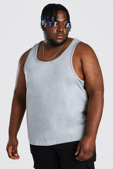 Charcoal grey Plus Size Basic Vest