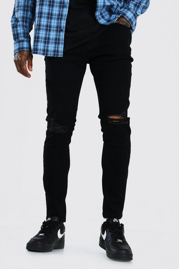 Black Skinny Jeans With Ripped Knees