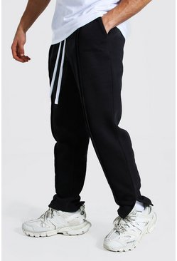 Black MAN Official Loose Fit Split Hem Joggers