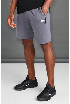 Charcoal grey Man Active Fitness Shorts