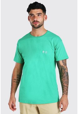 Green Oversized Truth Embroidery T-Shirt