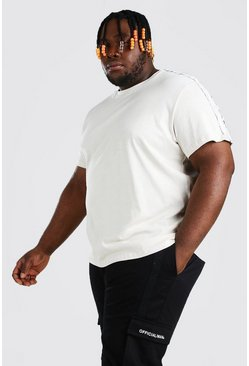 Plus Size MAN Official Tape T-Shirt, Ecru blanco