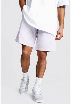 Ecru white Elastic Waist Relaxed Fit Chino Short