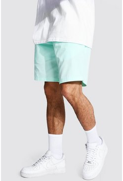 Bright green green Elastic Waist Relaxed Fit Chino Short