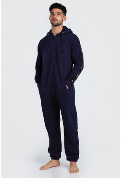Navy MAN Script Tape Onesie