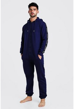 Navy MAN Dash Tape Onesie