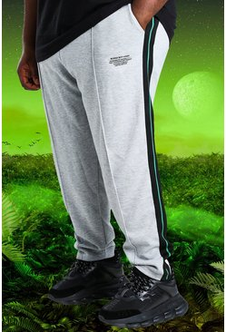 Grey marl grey Plus Size Burna Boy Slim Fit Joggers