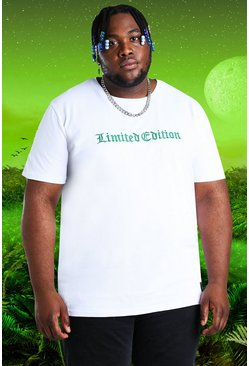 White Plus Size Burna Boy Ltd Edition T-Shirt