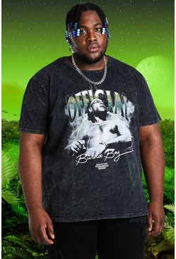 Charcoal grey Plus Size Burna Boy Official T-Shirt