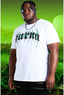 White vit Plus Size Burna Boy Tour Print T-Shirt