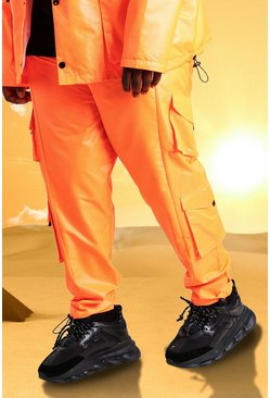 Orange Plus Size Burna Boy Cargo Pants