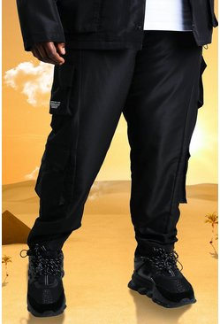 Black Plus Size Burna Boy Cargo Trouser