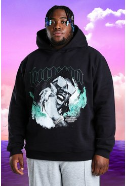 Black Plus Size Burna Boy Limited Flames Hoodie