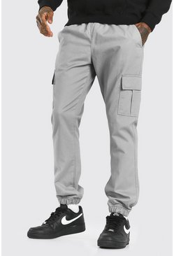 Slate grey Regular Fit Cargo Trouser